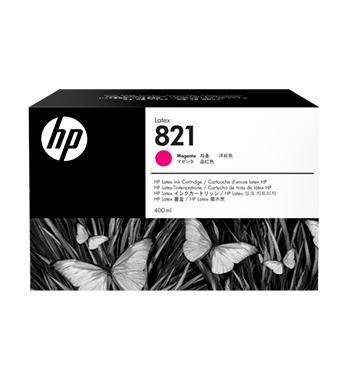 Cartouche d'encre HP Latex 821 -Magenta 400 ml