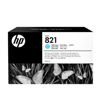 Cartouche d'encre HP Latex 821 -Cyan clair 400 ml