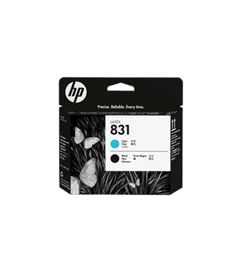 Tête d'impression HP Latex  831 – CYAN & NOIR