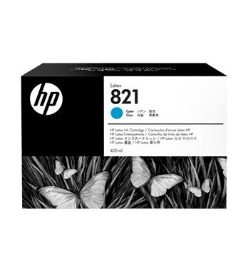 Cartouche d'encre HP Latex 821 -Cyan 400 ml