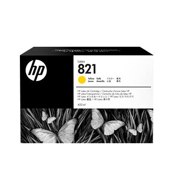 Cartouche d'encre HP Latex 821 -Jaune 400 ml